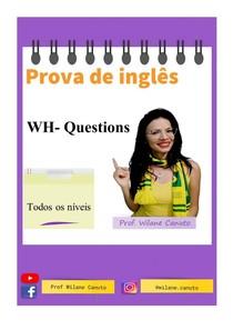 INGLÊS - prova - WH- questions