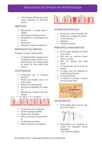 Suturas Em Odontologia - Resumo