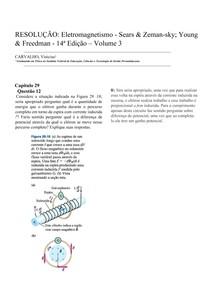 RESOLUÇÃO: Eletromagnetismo - Sears & Zemansky; Young & Freedman - Capitulo 29 - Questão 12