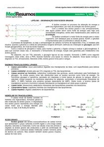 MEDRESUMOS 2014 - BIOQUÍMICA 14 - Lipólise
