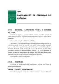 140.Contratação de operação de crédito