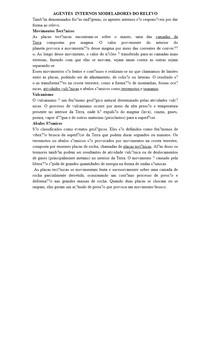 AGENTES INTERNOS MODELADORES DO RELEVO