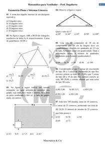Geometria plana e Sistemas Lineares
