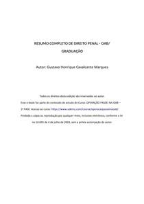 RESUMO COMPLETO DE DIREITO PENAL - OAB/ GRADUAÇÃO