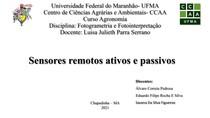 Sensoriamento remoto passivo e ativo