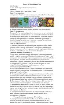 Introdução de microbiologia e microbiota