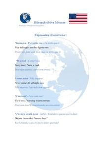 Expressões idiomáticas em inglês - 1