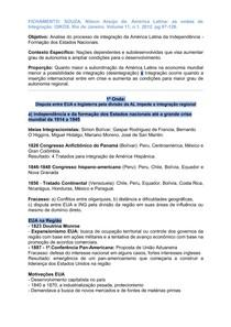 Fichamento:  América Latina as ondas de Integração da integração [2012] - SOUZA, Nilson Araújo de