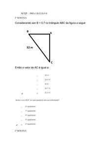 ACQF - PRÉ CÁLCULO II