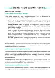 BASE CROMOSSÔMICA E GENÔMICA DE DOENÇAS