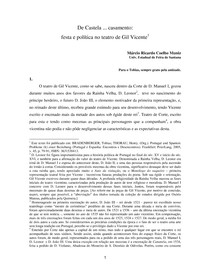 De Castela ... casamento:  festa e política no teatro de Gil Vicente