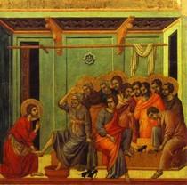 Duccio di Buoninsegna  - The Washing of Feet