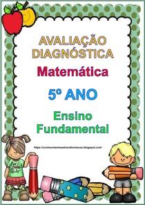 avaliaçao diagnostica de matematica 5 ano