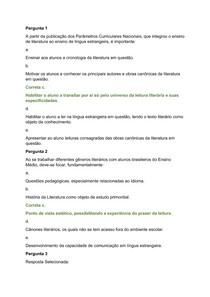 atividade teleaula I - Prática de Ensino de Literaturas em Língua Espanhola