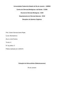 Química Orgânica - Extração de hidrocolóides (Galactomanana)