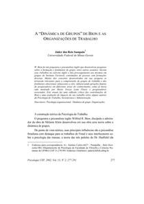Bion e a dinâmica de grupo
