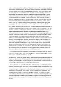 O que faz brasil Brasil resumo
