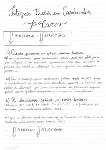 Cálculo 3 - Parte 4, assunto: Integrais duplas em coordenadas polares, vamos utilizar a mudança para coordenadas polares na resolução da integral dupla, região D do primeiro quadrante, a fórmula geral