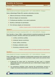 Pedagogia Empresarial - Questões de Concursos Públicos - Modulo 1