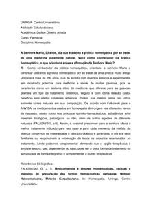 ESTUDO DE CASO HOMEOPATIA