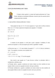 Capitulo 3 - Função Polinomial do 1° Grau