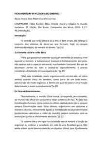 FICHAMENTO | Ética: direito, moral e religião no mundo moderno (Fábio Konder Comparato)