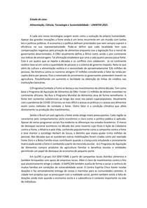 Estudo de Caso Resolução Regular - Alimentação, Ciência, Tecnologia e Sustentabilidade