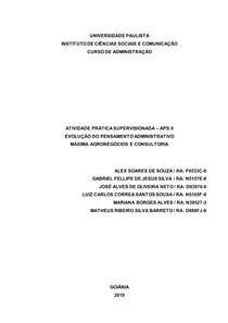 APS Finalizada 2º período adm