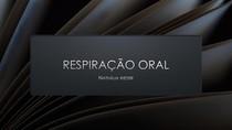 Respiração oral e lavagem nasal