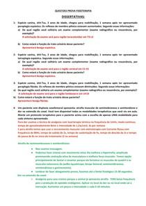 Questões da Prova Fisioterapia - N2