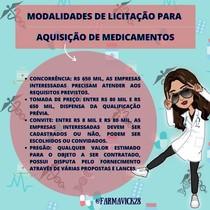 Modalidades de Licitação para Aquisição de Medicamentos