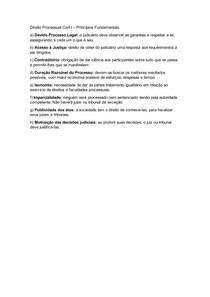 Direito Processual Civil I - Princípios Fundamentais