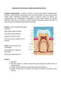 Resumo de complexo dentina-polpa (1)
