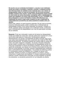 DESENVOLVIMENTO HUMANO E SOCIAL - A1