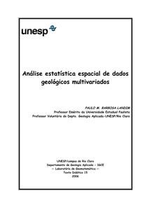 Análise estatística espacial de dados geológicos multivariados