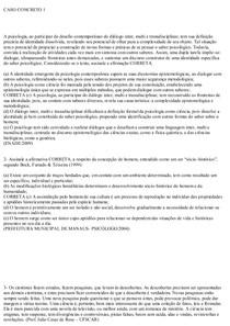 CASOS CONCRETOS 1 AO 13 PSICOLOGIA RESOLVIDOS