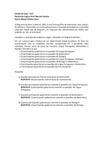 Atividade Supervisionada AV1 - Raciocinio Logico