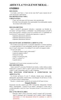 ARTICULAÇÃO GLENOUMERAL - OMBRO
