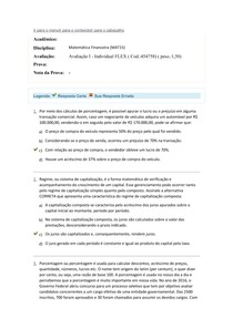 avaliação 1 flex matemática financeira