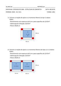AV1 - Concreto I - Prof Leila - Estacio Niteroi