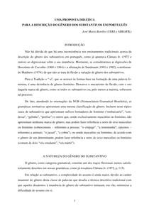 Uma proposta didática para a descrição do gênero dos substantivos em português IV FELIN