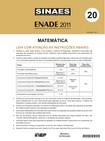 ENADE 2011 - Prova Matemática