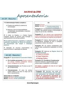 Resumo Artigo 39 e 40 da CF/88  - Concurso
