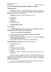 AULA 01- Juizados Especiais - Curso Estágio TJMG
