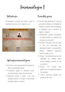 resumo Farmacologia I CONSEITOS GERAIS
