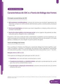 As principais características do CDC - Resumo