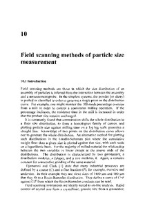 Field Scanning Methods of particle size measurement