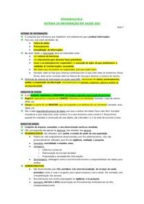 Resumo sistemas de informação de saúde