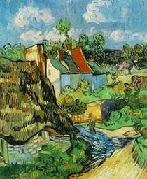 Vincent Willem van Gogh - Casas-em-Auvers-Blue