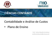 introducao a contabilidade e analise de custos